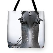 Uss Wisconsin - Head-on Tote Bag