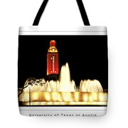 Ut Tower Poster Tote Bag