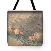 Utagawa Hiroshige    Shno Hakuuwhite Rain At Shno Tote Bag