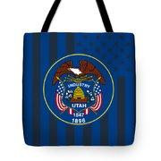 Utah State Flag Graphic Usa Styling Tote Bag