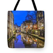 Utrecht From The Bridge By Night Tote Bag