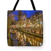 Utrecht Old Canal By Night Tote Bag