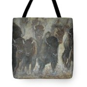 Uttc Buffalo Mural Center Panel Tote Bag