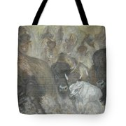 Uttc - Buffalo Mural Left Panel Tote Bag