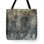 Uttc Buffalo Mural Right Panel Tote Bag