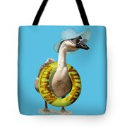Vacation Time For Summer Goose Tote Bag