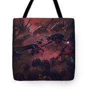 Vader Vs Aliens 1 Tote Bag