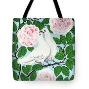 Valentine Doves Tote Bag