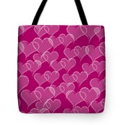 Valentine Hearts Pattern Tote Bag