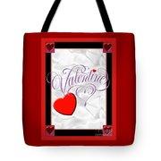 Valentine Script Tote Bag