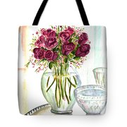 Valentines Crystal Rose Tote Bag