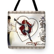 Valentines Day Card, 1909 Tote Bag