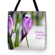 Valentines Day Crocuses Tote Bag