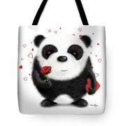 Valentine's Panda Tote Bag