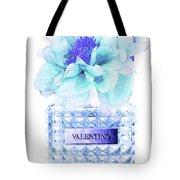 Valentino Blue Perfume Tote Bag