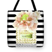 Valentino Perfume With Flower Tote Bag