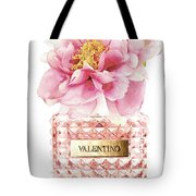 Valentino Pink With Peony Tote Bag