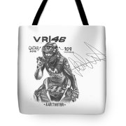 Valentino Rossi Drawing Sign Tote Bag