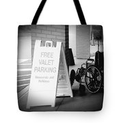 Valet Parking Tote Bag