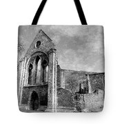 Valle Crucis Abbey Monochrome Tote Bag