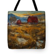 Valley Farm Sunset Tote Bag