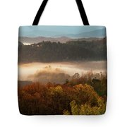 Valley Fog At Sunrise One Tote Bag