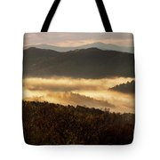 Valley Fog At Sunrise Two Tote Bag