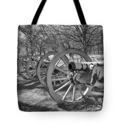 Valley Forge Battery Blackened White Tote Bag