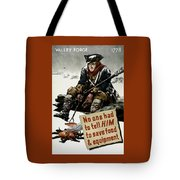 Valley Forge Soldier - Conservation Propaganda Tote Bag