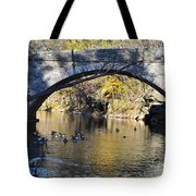 Valley Green Bridge Tote Bag by Bill Cannon