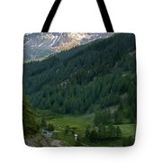 Valley In The French Alps Tote Bag