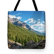 Valley Near Moraine Lake Banff Tote Bag