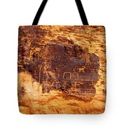 Valley Of Fire Ancient Petroglyphs Tote Bag