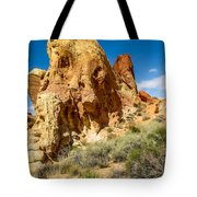 Valley Of Fire - Face In The Rock Tote Bag