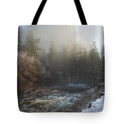 Valley Of Mist Tote Bag