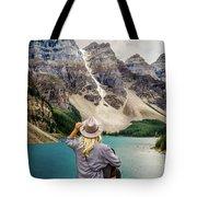 Valley Of The Ten Peaks Tote Bag by Rod Sterling
