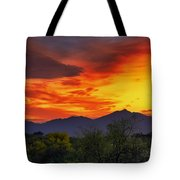Valley Sunset H32 Tote Bag