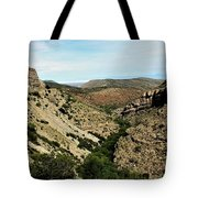 Valley View Of Whitesands Tote Bag