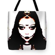 Vampire Skeleton Tote Bag