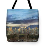 Van City Sunrise Tote Bag