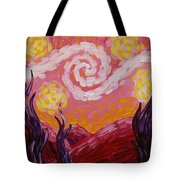 Van Gogh Sunset Tote Bag