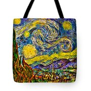 Van Gogh's 'starry Night' - Hdr Tote Bag