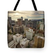 Vancouver Bc Cityscape Aerial View Tote Bag