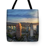 Vancouver Bc Cityscape At Sunset Tote Bag