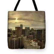 Vancouver Bc Cityscape During Sunset Tote Bag