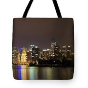 Vancouver By Night Tote Bag