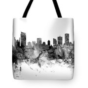 Vancouver Canada Skyline Panoramic Tote Bag