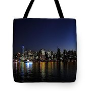 Vancouver Night Lights Tote Bag