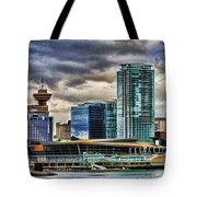 Vancouver Skyline Hdr Tote Bag