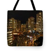 Vancouver Skyline Tote Bag by Nancy Harrison
